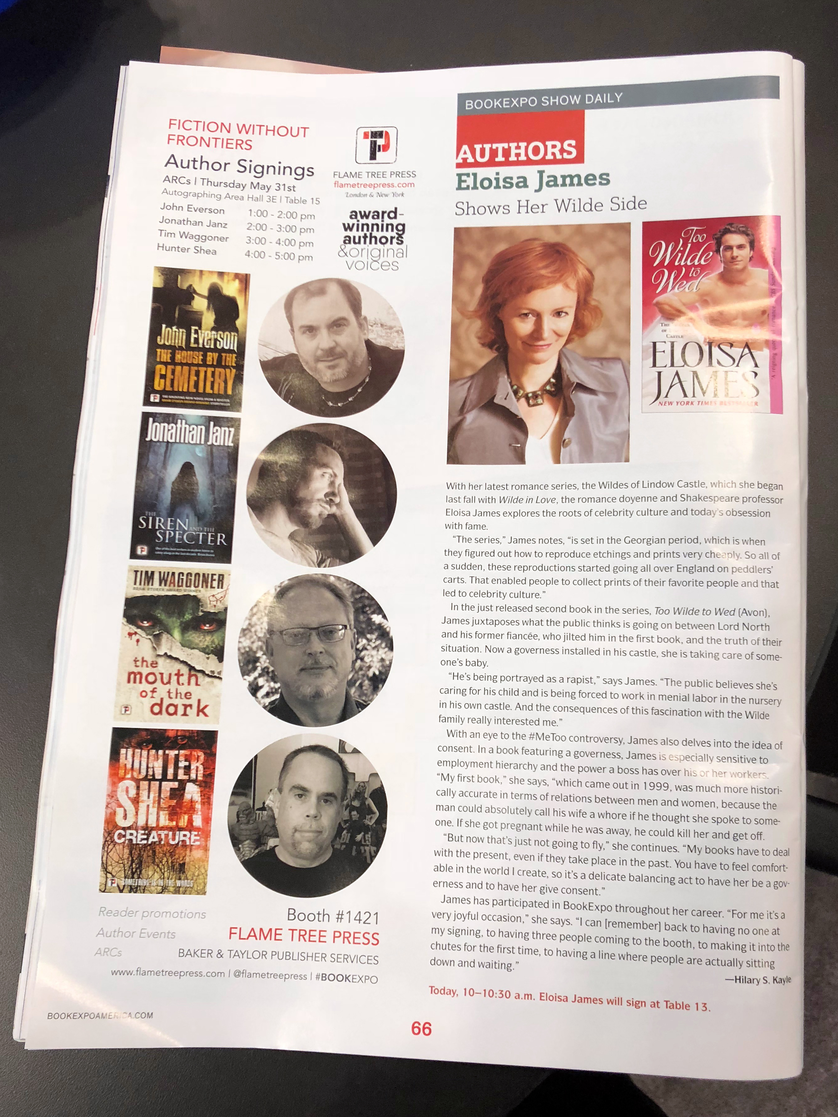 Publishers Weekly Show Daily, Flame Tree Press, at BookExpo18