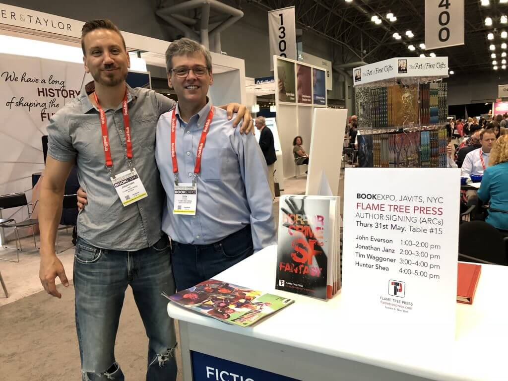BookExpo18 Jonathan Janz and Don D'Auria