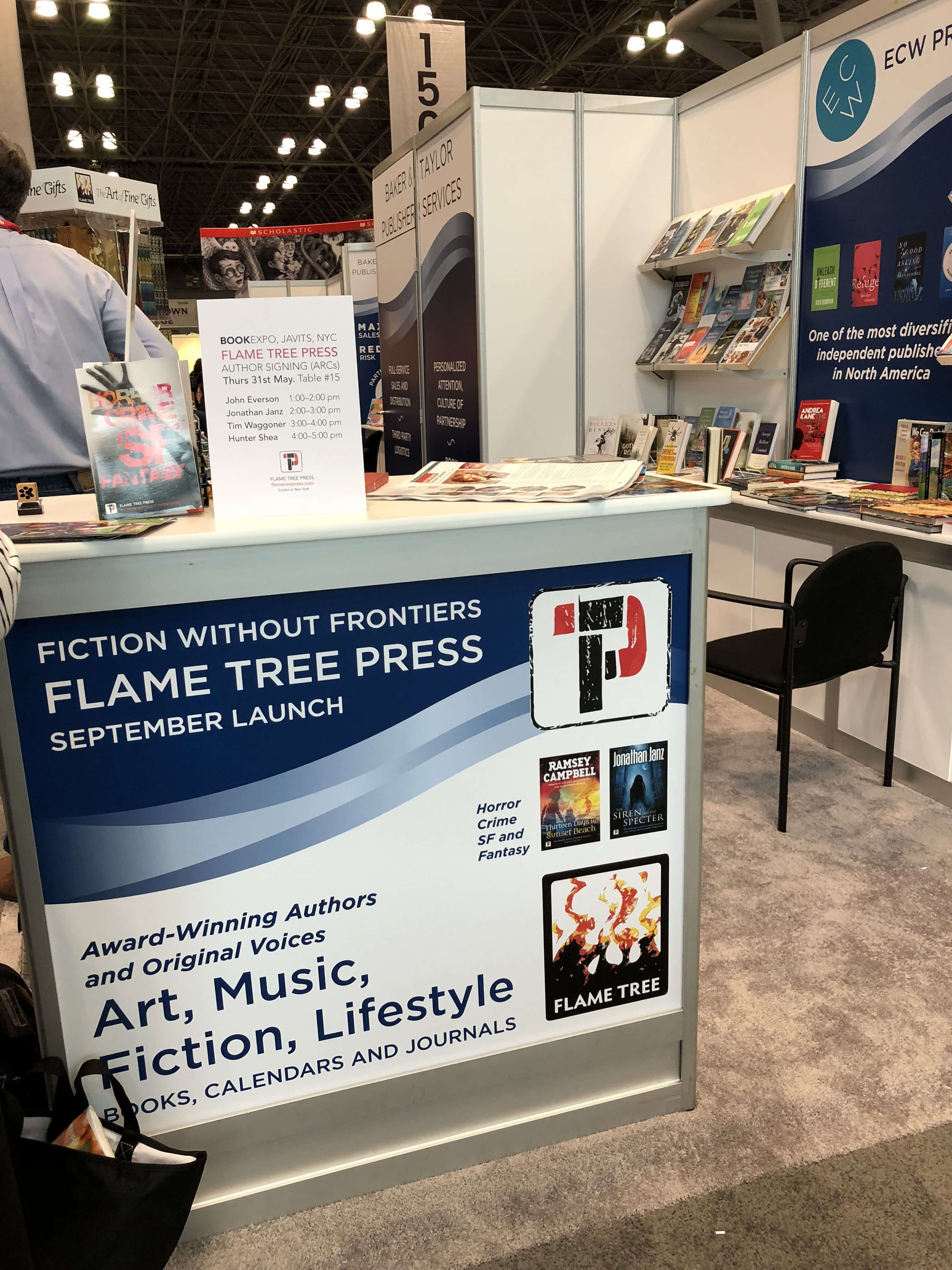 BookExpo18 Flame Tree Press Booth