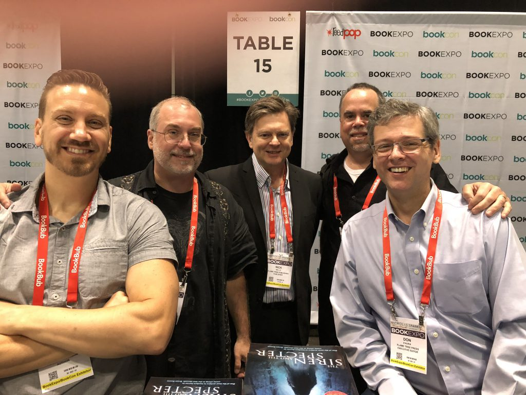 Jonathan Janz, Tim Waggoner, Hunter Shea, John Everson, Nick Wells, Don D'Auria, Flame Tree Press signing