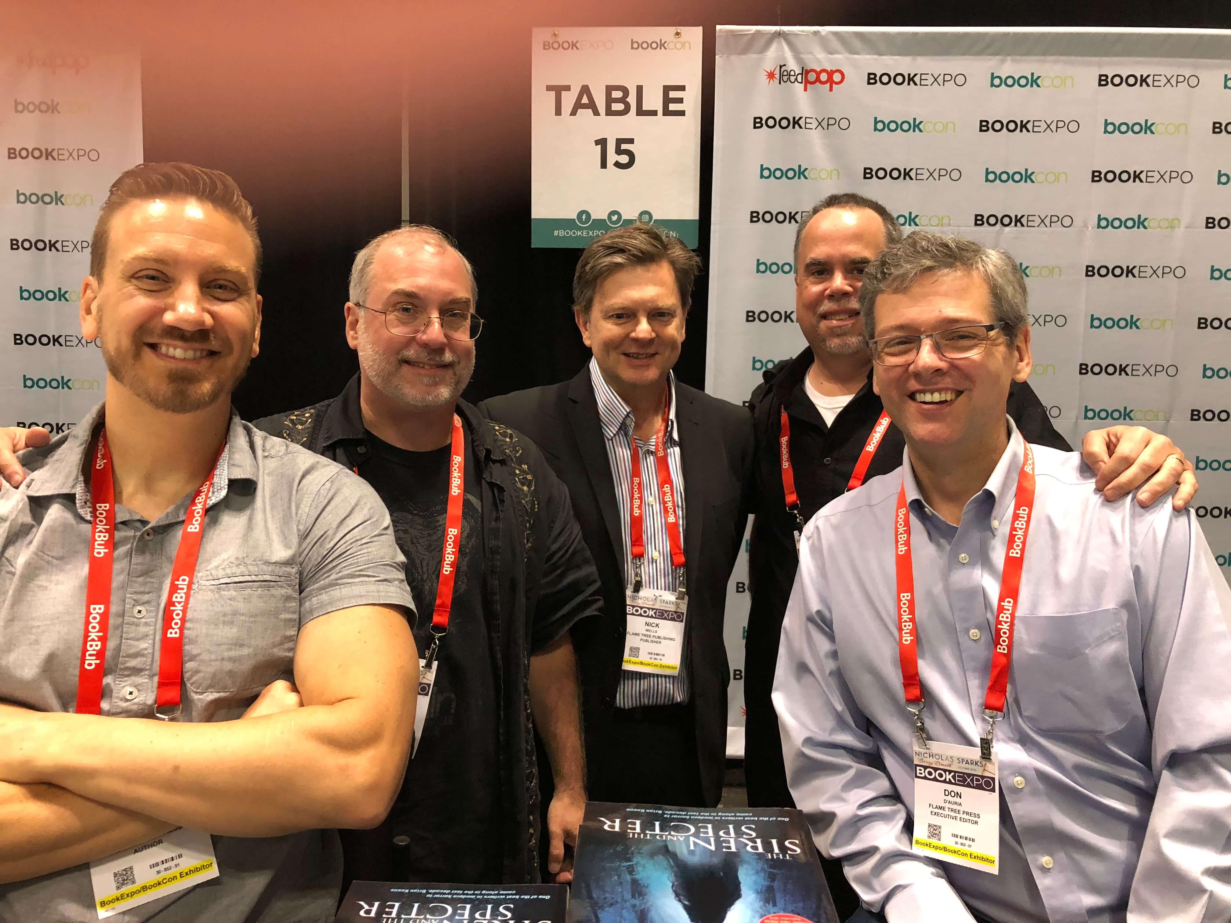 Jonathan Janz, Tim Waggoner, Hunter Shea, John Everson, Nick Wells, Don D'Auria, Flame Tree Press signing