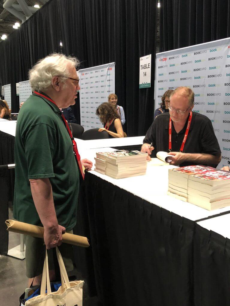 Tim Waggoner signing ARCs of The Mouth of the Dark