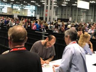 Tim Waggoner, Flame Tree Press author signing.