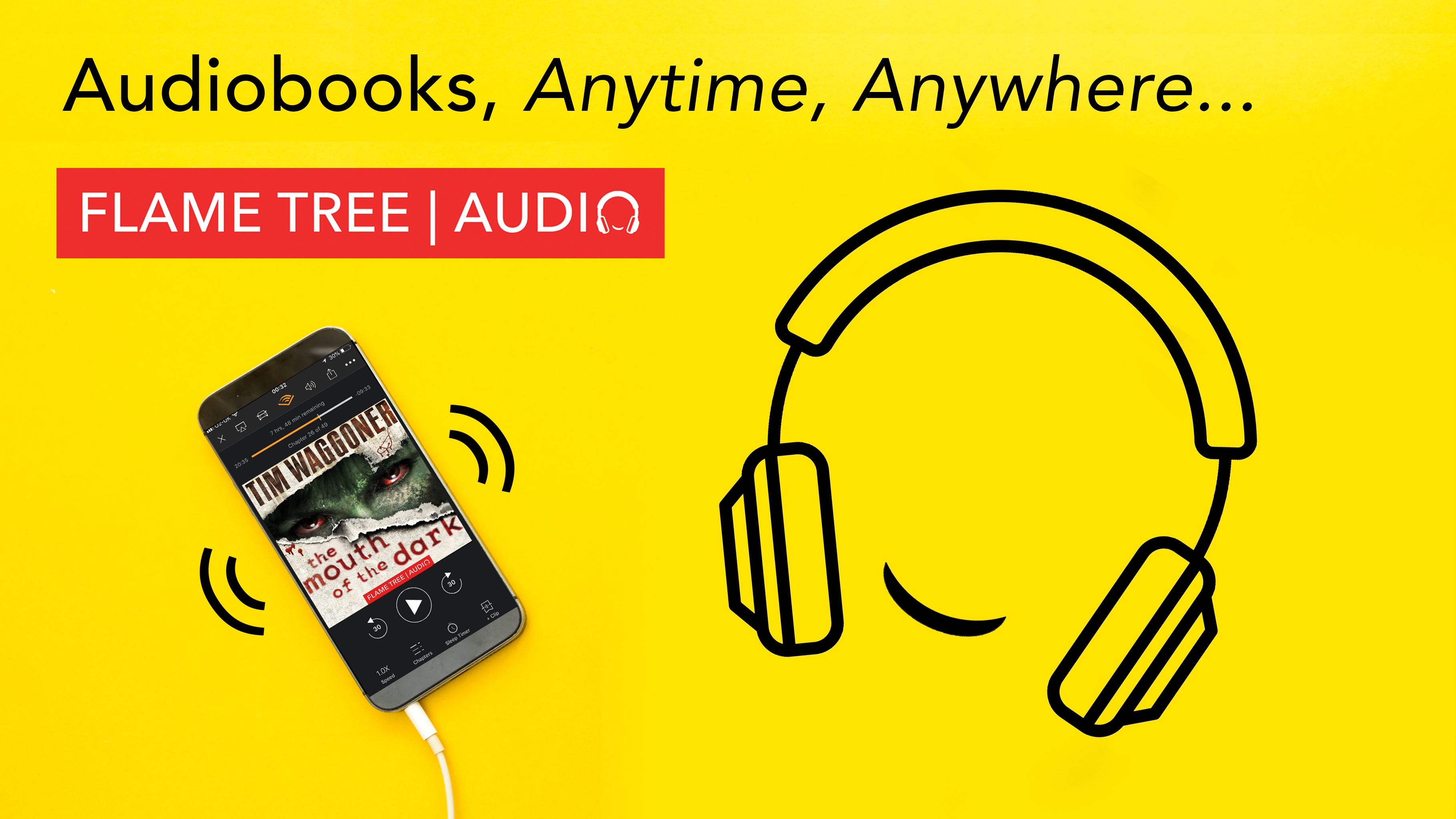 Flame Tree Audiobooks, anytime, anywhere, Mouth of the Dark