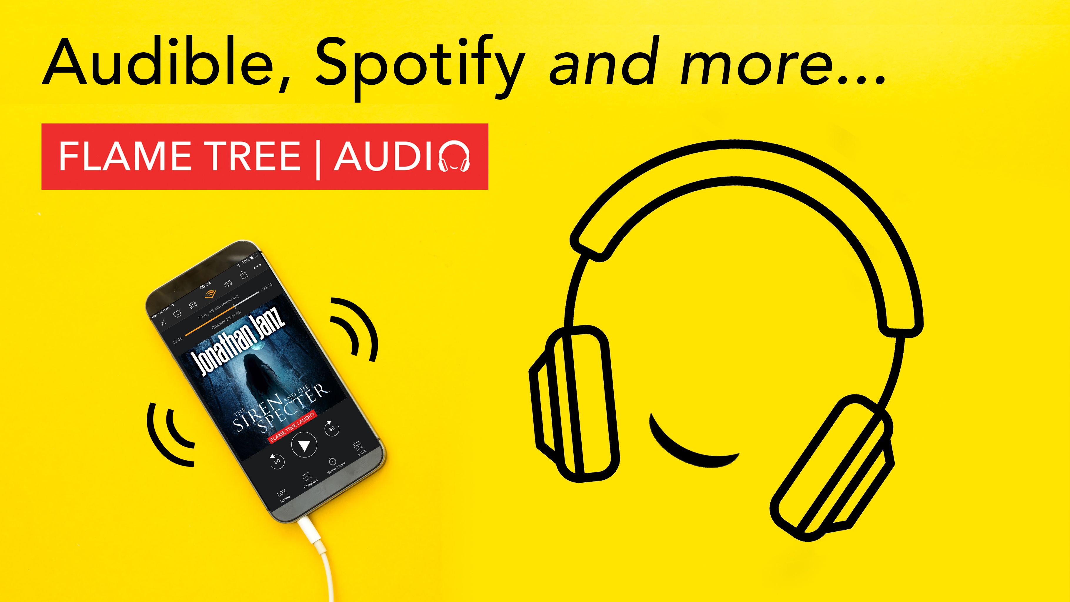Flame Tree Audiobooks, anytime, anywhere, The Siren and the Specter