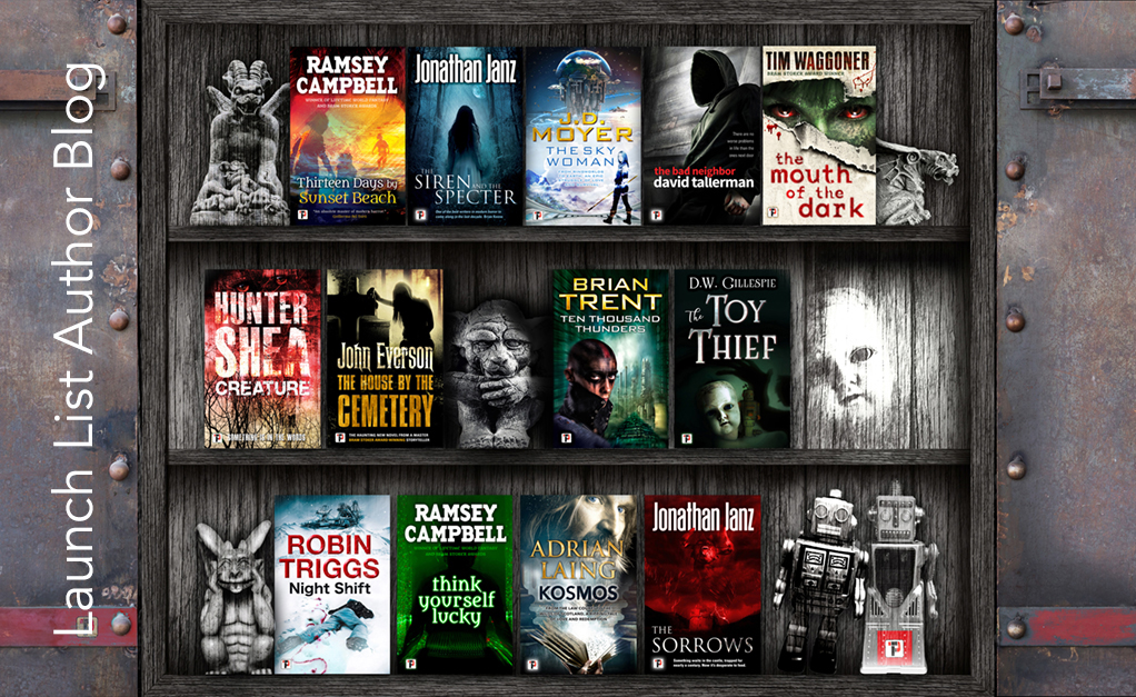 flame tree press, scifi, horror stories, stoker award, ramsey campbell, jonathan janz, hunter shea, tim waggoner