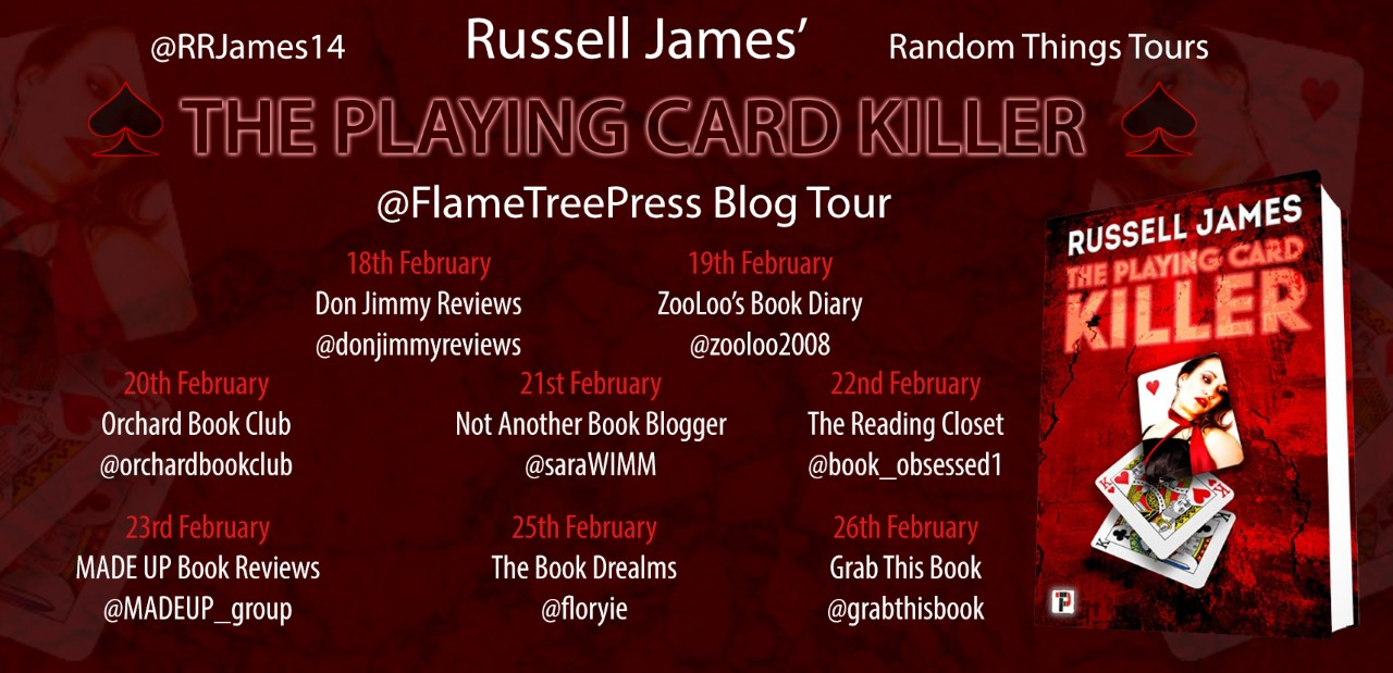 Russell James - The Playing Card Killer Blog Tour
