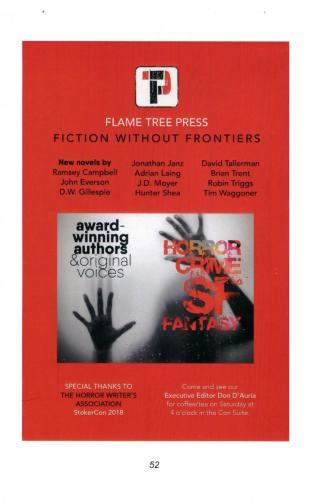 Flame Tree Press at StokerCon 2018